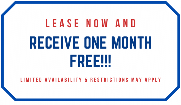 Lease NOW & Get ONE Month FREE!